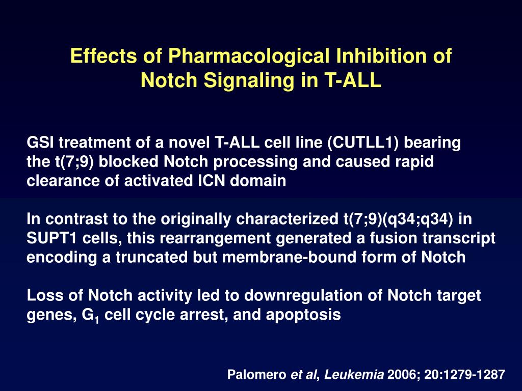 Effects of Pharmacological Inhibition of Notch Signaling in T-ALL