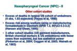 nasopharyngeal cancer npc ii