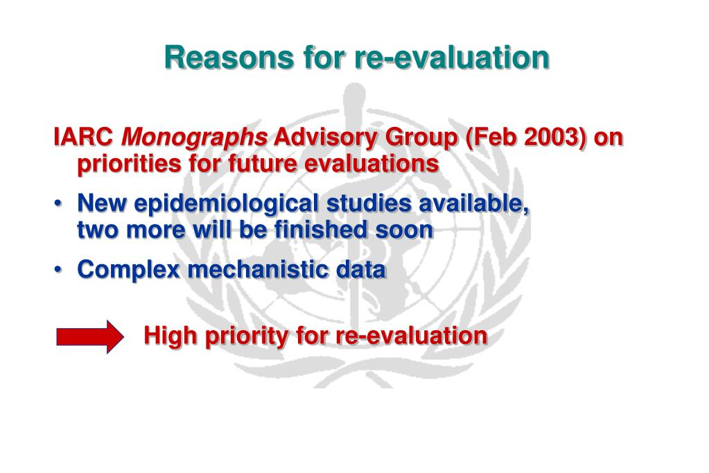 Reasons for re-evaluation