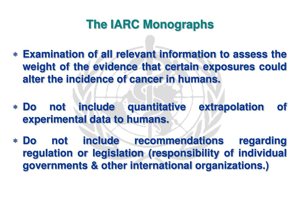The IARC Monographs