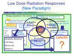 low dose radiation responses new paradigm