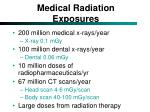 medical radiation exposures