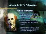 adam smith s followers12