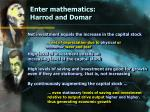 enter mathematics harrod and domar18
