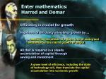enter mathematics harrod and domar19