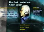 the first revolution adam smith