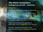 the third revolution endogenous growth summary