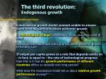 the third revolution endogenous growth