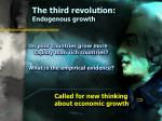 the third revolution endogenous growth27