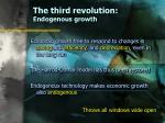 the third revolution endogenous growth29