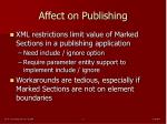 affect on publishing