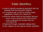 public identifiers
