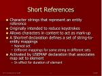 short references