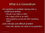 what is a conundrum