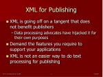 xml for publishing