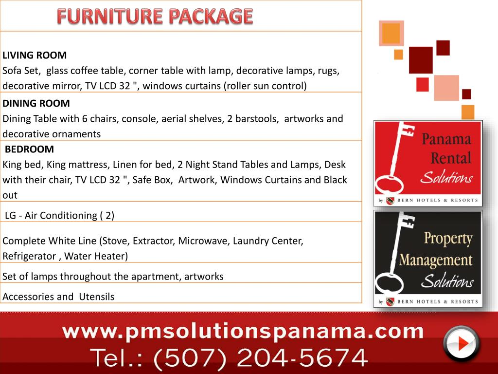 FURNITURE PACKAGE