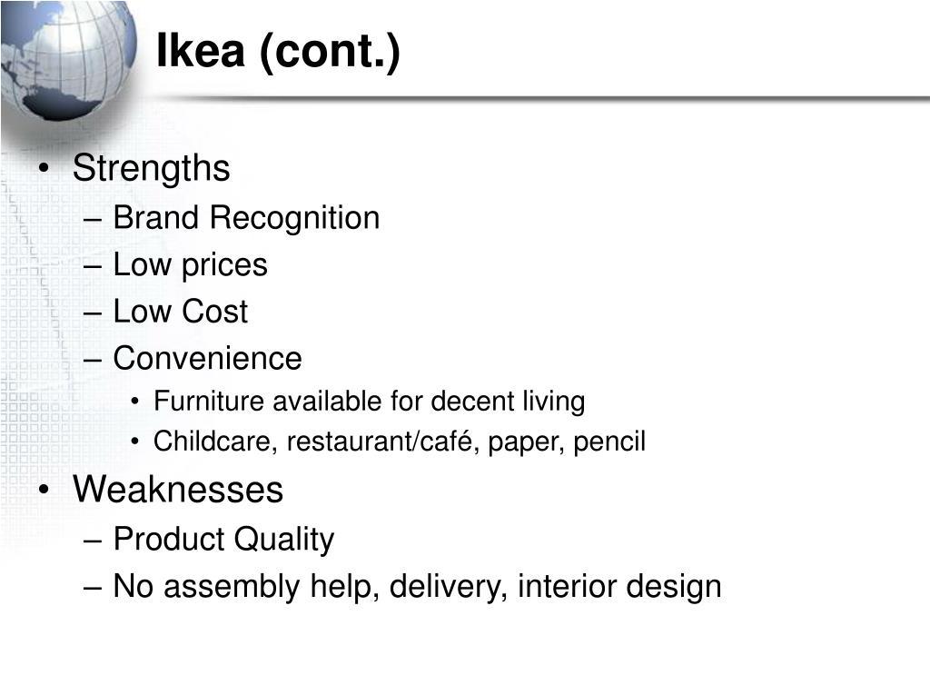 Ikea (cont.)