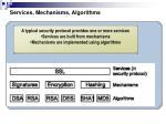 services mechanisms algorithms