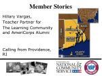 member stories