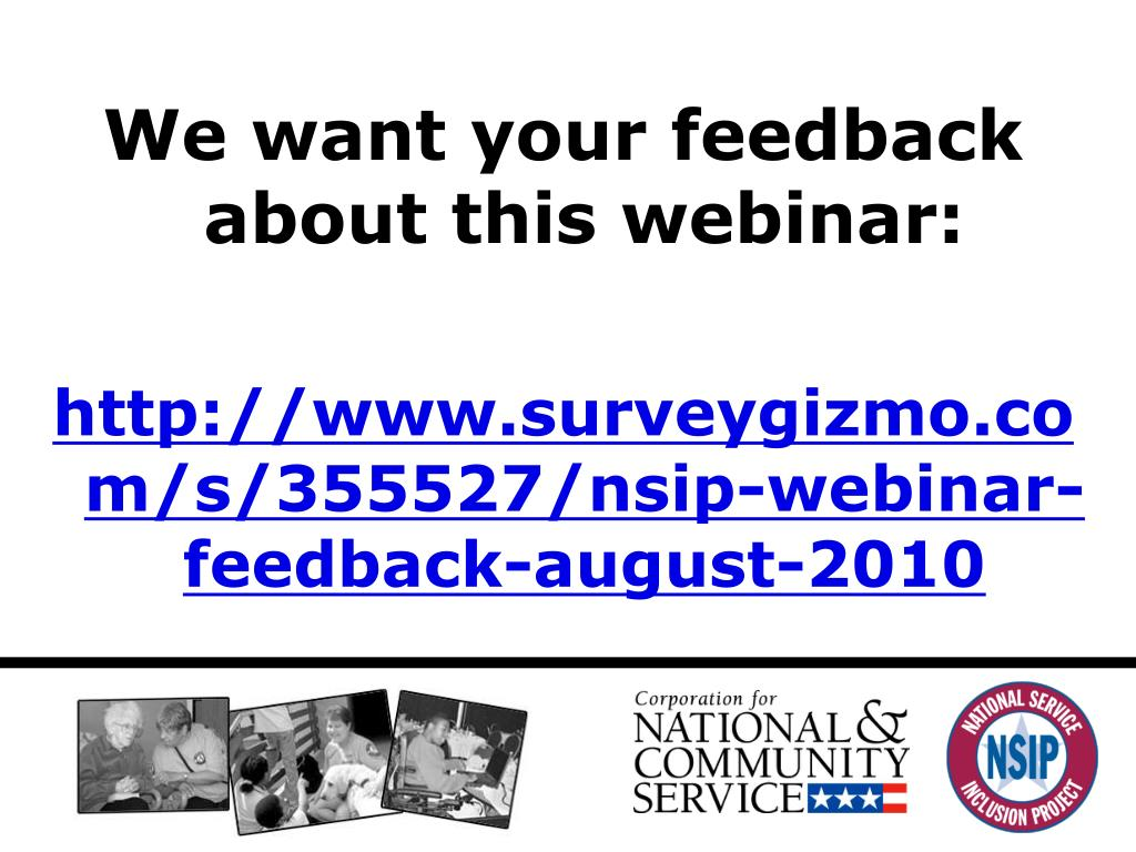 We want your feedback about this webinar: