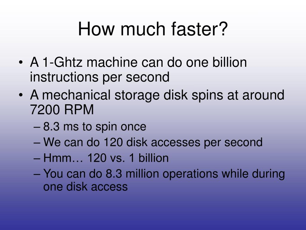 How much faster?