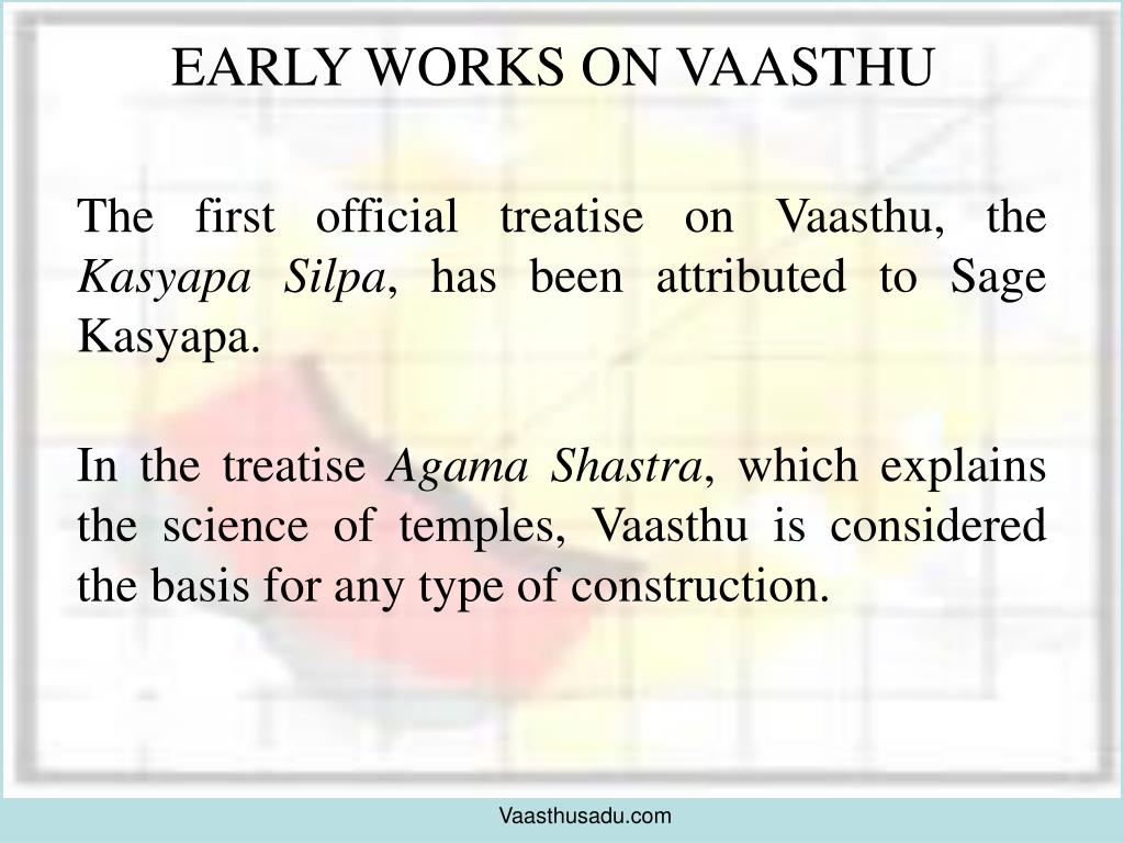 EARLY WORKS ON VAASTHU