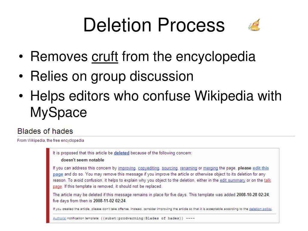 Deletion Process