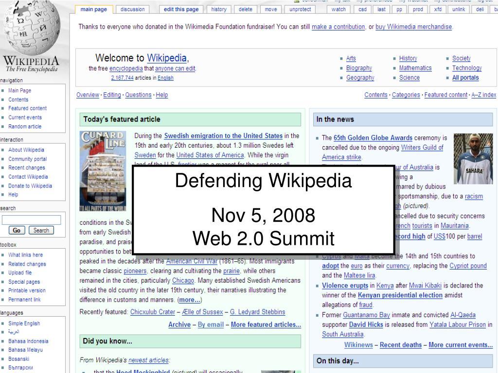 Defending Wikipedia