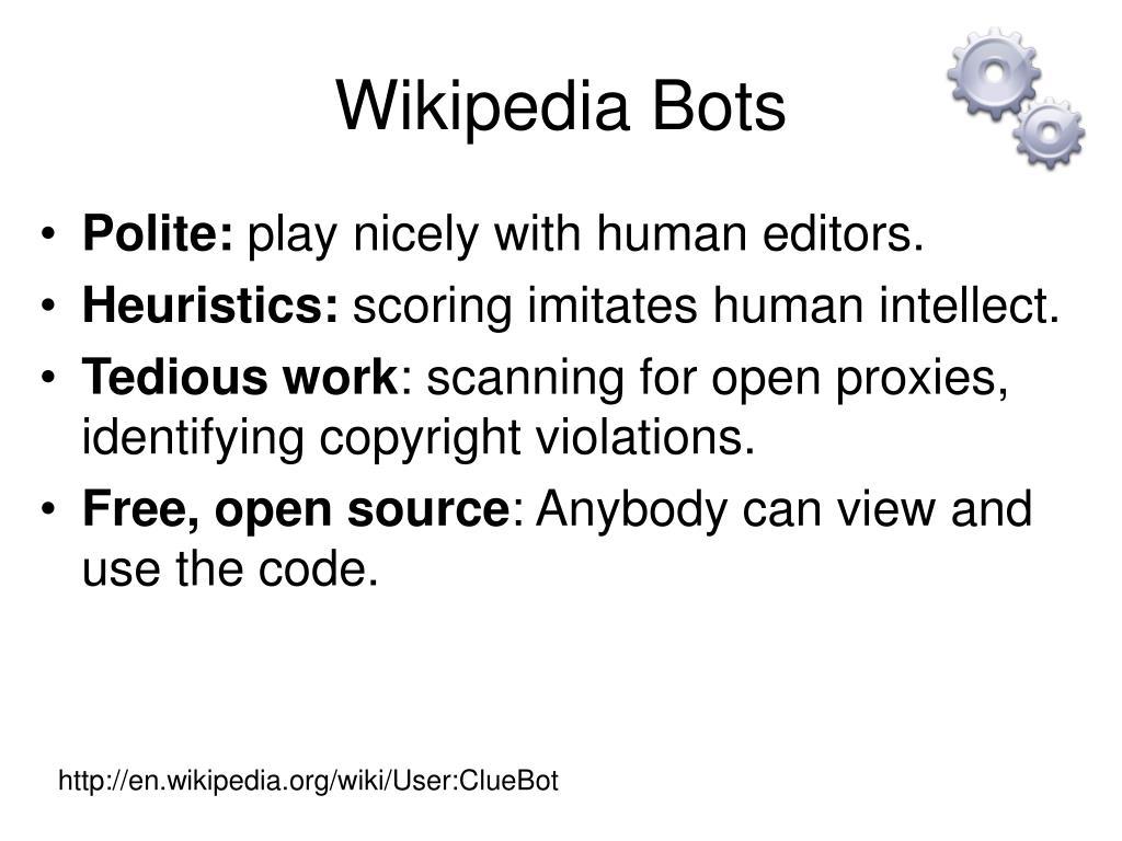 Wikipedia Bots