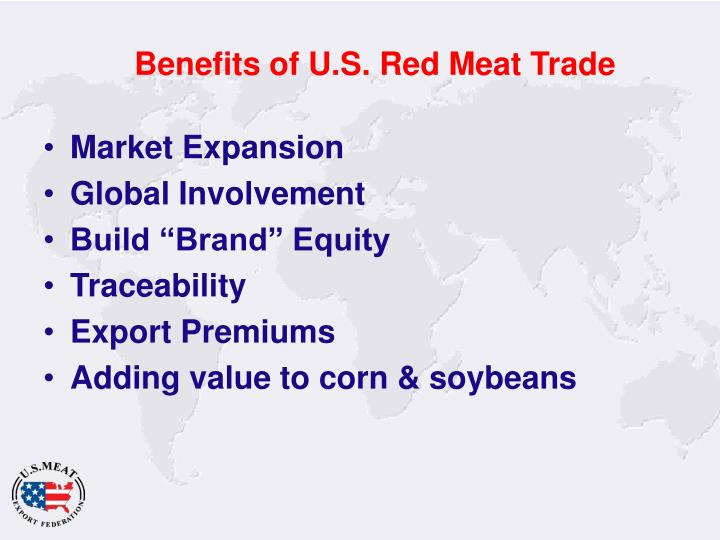 Benefits of U.S. Red Meat Trade