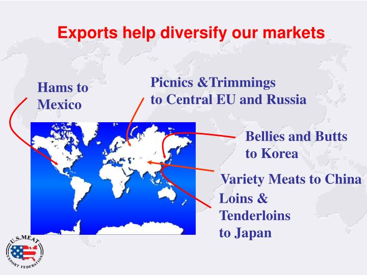 Exports help diversify our markets