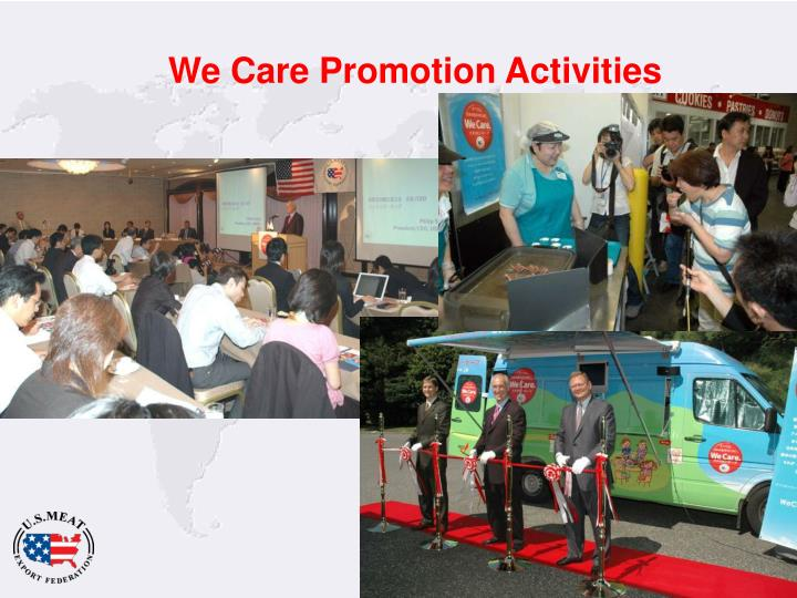 We Care Promotion Activities