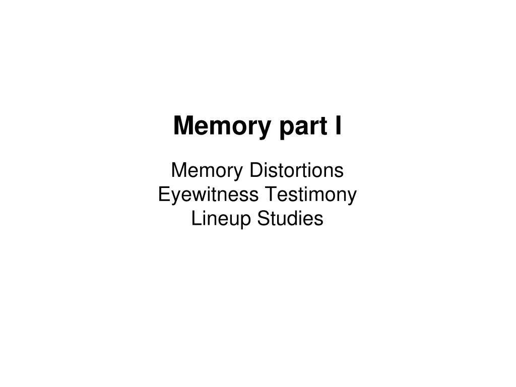 eyewitness memory Eyewitness memory is a person's episodic memory for a crime or other dramatic event that he or she has witnessed[1] eyewitness testimony is often relied upon in the judicial system.