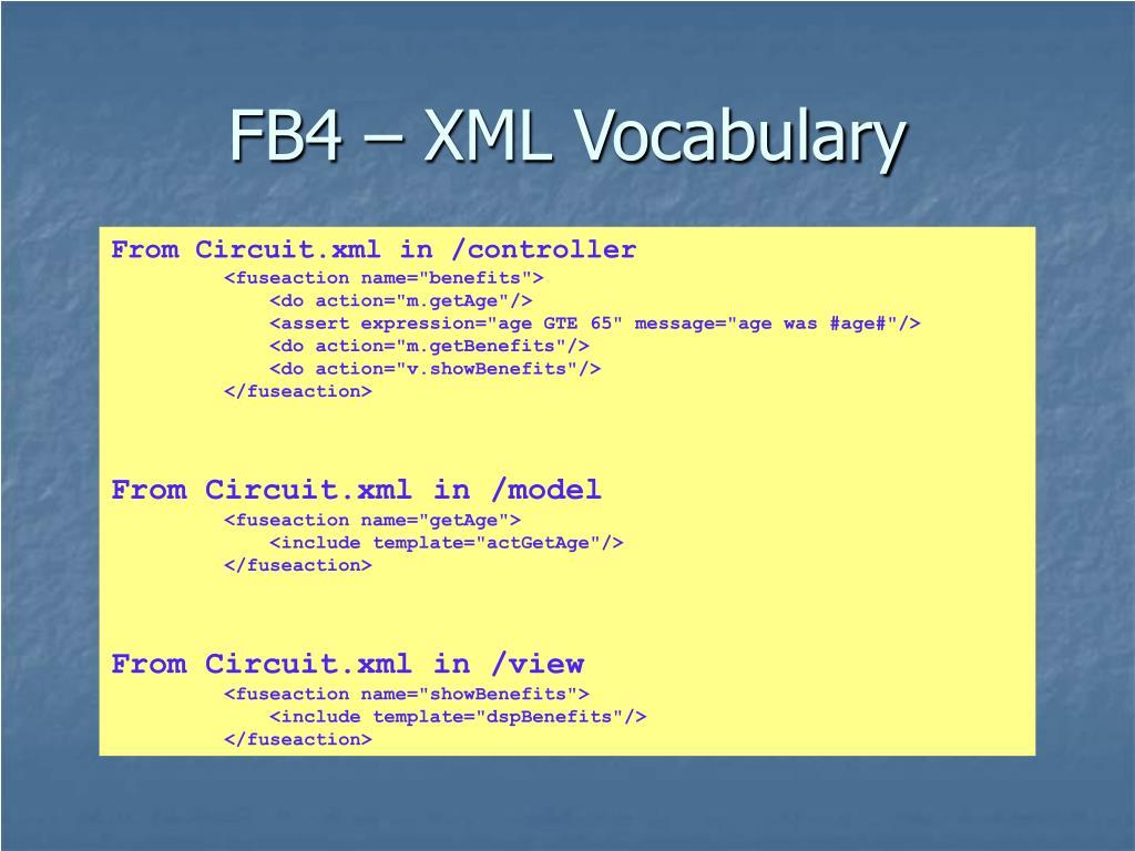 FB4 – XML Vocabulary