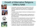 growth of alternative religions nrm nam