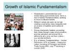 growth of islamic fundamentalism
