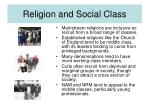 religion and social class