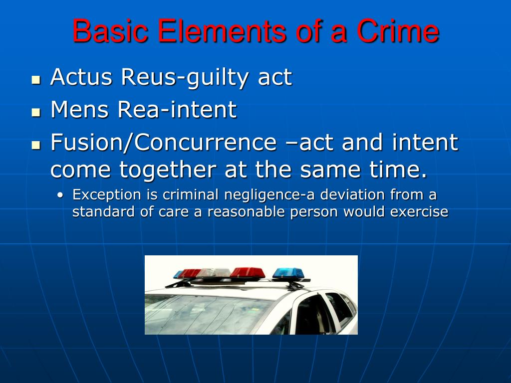 Basic Elements of a Crime