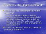 blasphemy still illegal in iceland