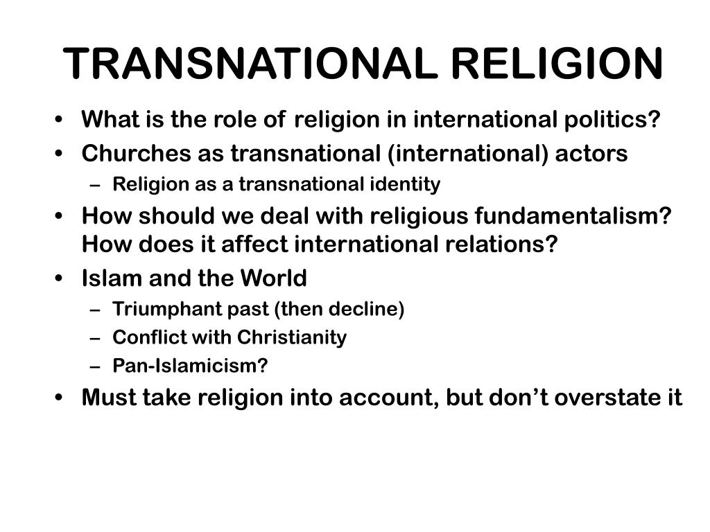 What is the role of religion in international politics?