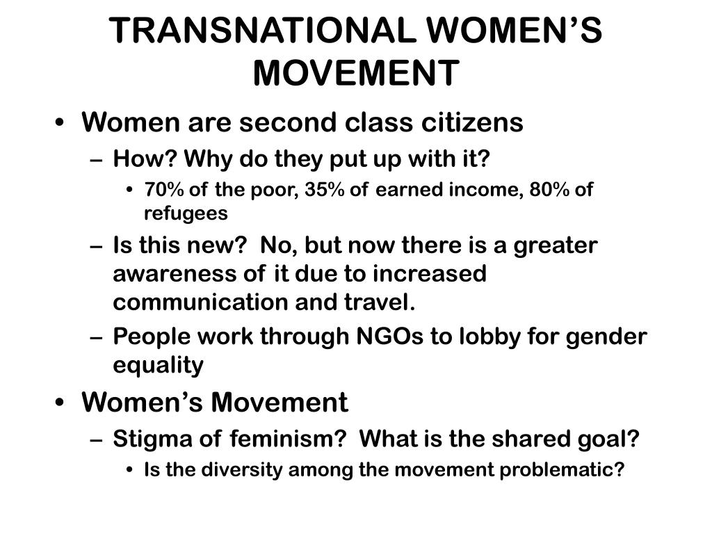 Women are second class citizens