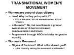 transnational women s movement
