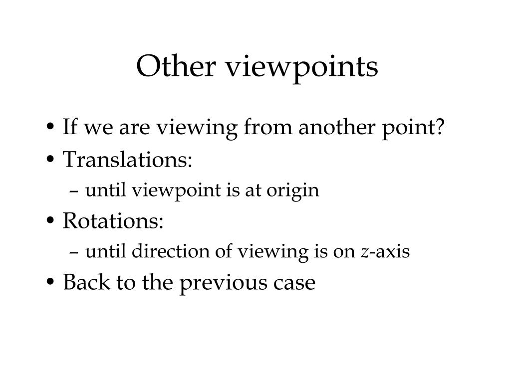 Other viewpoints