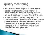 equality monitoring7