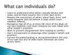 what can individuals do