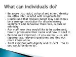 what can individuals do30