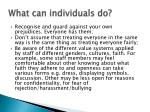 what can individuals do31