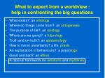 what to expect from a worldview help in confronting the big questions65
