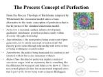 the process concept of perfection