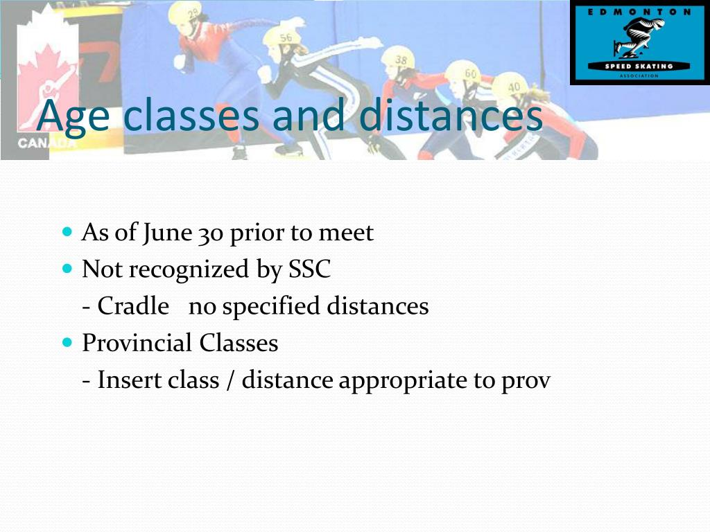 Age classes and distances